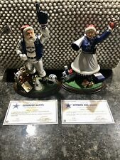 The Danbury Mint Cowboys Santa And Mrs. Claus 2000 With Certificates Of Authenti