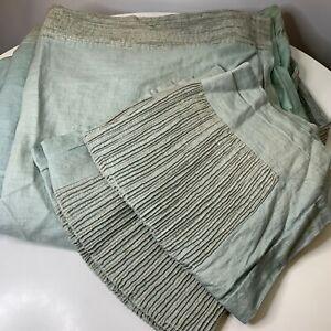 roberts domond duvet cover set green linen zip closure shams modern bedding