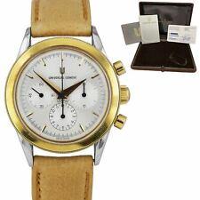 1995 Universal Geneve Compax Cronógrafo Reloj de acero de oro 18K 284.460 Caja Papeles