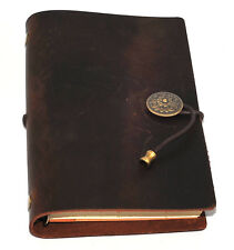 Leather Notebook Journal Handmade Vintage Leather Travel Diary Notepad 12 x 19cm
