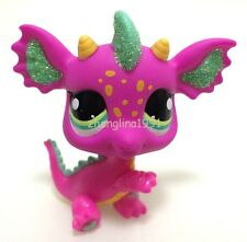 Hasbro LPS Littlest Pet Shop #2663 SPARKLE PINK GREEN DRAGON Rare Toy ZN