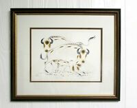 EDDY COBINESS Lithograph Art 4-Color BUFFALO Framed Matted Ltd Edition 59/400 N9