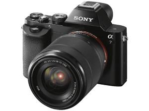 Sony Alpha ILCE 7KB, Sensor de 24.3 MP, Negro + Objetivo SEL 28-70 mm