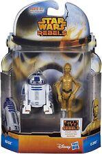 "Hasbro Disney Star Wars Rebels 3.75"" R2-D2 & C-3PO Action Figures NEW"