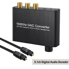 5.1ch Digital Audio Decoder Optical Coaxial Toslink to Analog AC-3/DTS Converter