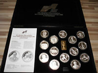 Silber Medaillen Fussball EM 1988 in Deutschland in Box + Zertifikat 560g AG (S1