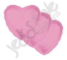 "3 pc - 18"" Solid Pink Heart Balloon Wedding Baby Bridal Shower Birthday Luau"