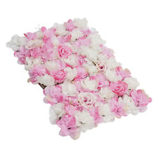 Removable Artificial Flower Wall Panel Wedding Decor Photo Props Hot Pink