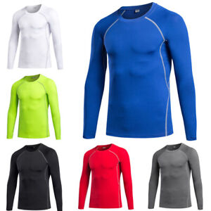 Men's Athletic Tight Sportswear Fitness Training Elastic Long Sleeve T-Shirt
