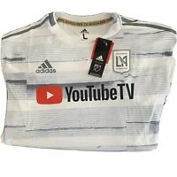 NWT Adidas LAFC Away Jersey 2019 Replica White MLS Mens Large