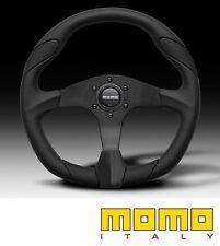 MOMO High Performance Quark Steering Wheel - Black Leather 350mm