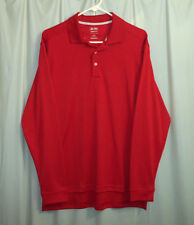 Adidas Golf Polo Shirt Men's Small S Red Long Sleeve