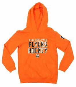 Reebok NHL Youth Philadelphia Flyers Stitch Em Up Fleece Hoodie, Orange