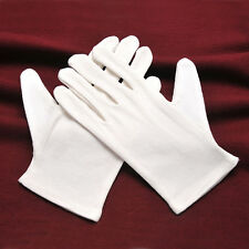 6 Pairs New Gloves Health Music Canvas Beauty Work Liner Tool 100% Cotton White