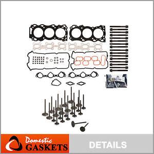 Head Gasket Set Intake Exhaust Valves Fits 05-09 Nissan Suzuki 4.0 DOHC VQ40DE
