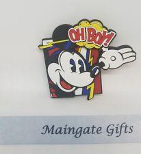 Disney Parks Mickey Mouse Oh Boy Comic 3D Pvc Refrigerator Magnet - New