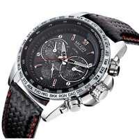Montre LUXE Sport Megir TOP QUALITE Bracelet cuir Homme Fashion MEN Watch