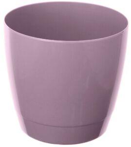 Set Of 4 Indoor Round Plant Pots 16cm Round Indoor Planters Purple
