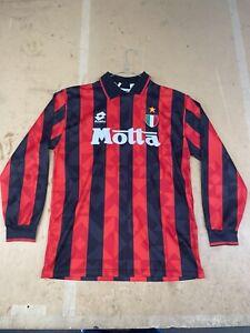 Maglia Calcio Milan 93 94 Lotto Motta Scudetto No Numero Vintage Taglia L