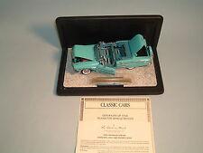 1958 CHEVROLET IMPALA TURQUOISE CONVERTIBLE WITH BOX DANBURY MINT 1:24 DIECAST