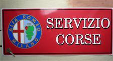 ALFA ROMEO Attuale Logo SERVIZIO CORSE adesivo grande per officina Garage