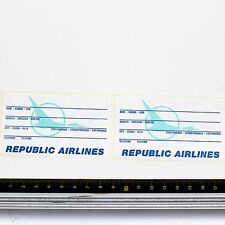 Republic Airlines Bag Tag Stickers X 2 - Good Condition