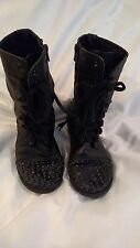 Ladies Teens Size 7 M BONGO Black Studdded Boots Gothic EMO L@@K