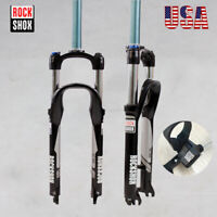 "26"" RockShox 1-1/8"" Mountain Bike Suspension Fork 100mm Remote Lock Disc Brake"