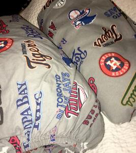 Pottery Barn Teen Major League Baseball MLB Full Fitted & Flat Sheets Organic