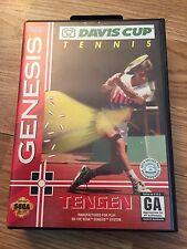 Davis Cup Tennis Sega Genesis Cib Game Works With Manual SG2