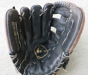 "Nike Keystone Gold Baseball Glove 1153, Energy Arrest Padding 11.5"" LHT"