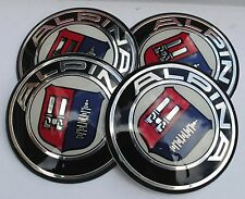 BMW ALPINA RUOTA HUB CAPS BADGE EMBLEMA ADESIVI 65mm Set di 4 resina epossidica