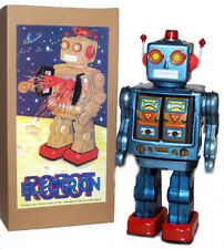 ME100 Robot Blue Tin Toy Space Man Space Toy for DISPLAY