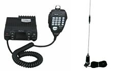 AnyTone AT778UV Dual Band Radio and NMO Antenna and Adjustable Trunk Mount +Coax
