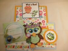 WHAT A HOOT!  3D PAPER PIECING SCRAPBOOK PAGE MAT SET