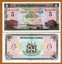 Ireland Northern, Ulster Bank, 5 pounds, 2007, P-340, UNC