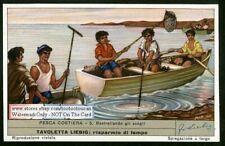 Fishing Off The Rocks Italy Rastrellando Gli Scogli 60+ Y/O Trade Ad Card