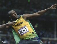 OLYMPICS USAIN BOLT SIGNED 11X14 PHOTO 9X GOLD AUTHENTIC AUTO BECKETT BAS COA 3