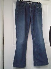 GAP WOMEN'S ORIGINAL LONG AND LEAN BLUE JEANS PANTS PLAIN POCKETS DARK SIZE 6
