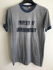 Vintage Lakehead University College T Shirt Medium Tee Faded Blue from 70's!