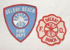 Delray Beach Fire Department Patches (Lot of two Patches)