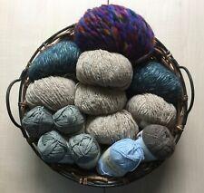 ROWAN  Knitting Crochet Yarn Job Lot Mixed Colours 14 Balls 50g