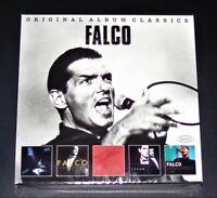 FALCO ORIGINAL ALBUM CLASSICS 5 DISC SET CD MIT 58 TITEL SCHNELLER VERSAND NEU