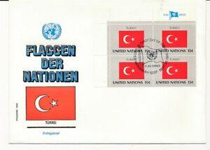 D112749 Flag Series Turkey FDC United Nations New York Bureau