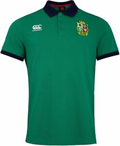 New Canterbury Rugby Shirt Med Home Nations Mens British Irish Lions Polo Green
