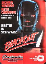 Blackout - Bestie in Schwarz Videoposter A1 Keith Carradine, Quinlan, Widmark
