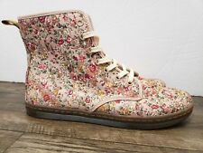 Dr. Martens Women Boots Sz US 11 Shoreditch Pink Meadow Floral Canvas mint cond