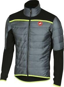 Castelli Men's Cross Pre Race Jacket Grey/Neon Size Large