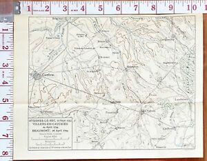 MAP/BATTLE PLAN AVESNES-LE-SAC 12 SEPT 1793 VILLERS-EN-CAUCHIES BEAUMONT CAMBRAI