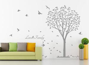 Hand Carving Love Family Tree Bird Wall Stickers Decal Vinyl Decor UK RUI188